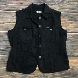 Black Calvin Klein Black Jean Vest